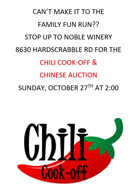 Chili cook-off flier